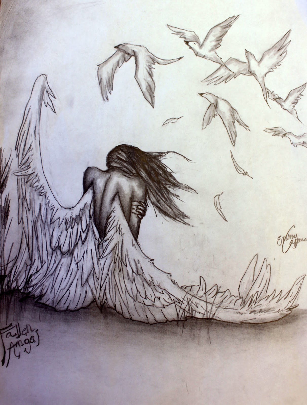 pencil pizazz by emmy capman  fallen angel