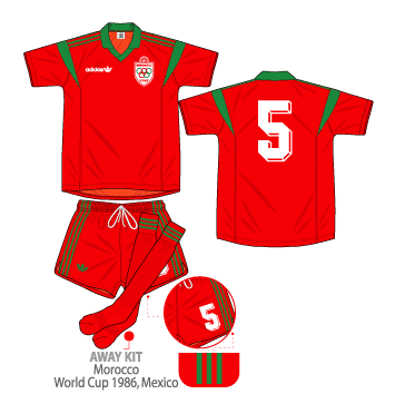 kits by basstialbo(HD) - Clásicos y Actuales Morocco+WC1986Away
