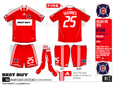The kits for Chicago Fire mls still manufactured by adidas. For 2009 10 Home  and away dab94fb2f