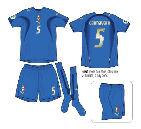 Football teams shirt and kits fan italy world cup 2006 kits for Italian kit