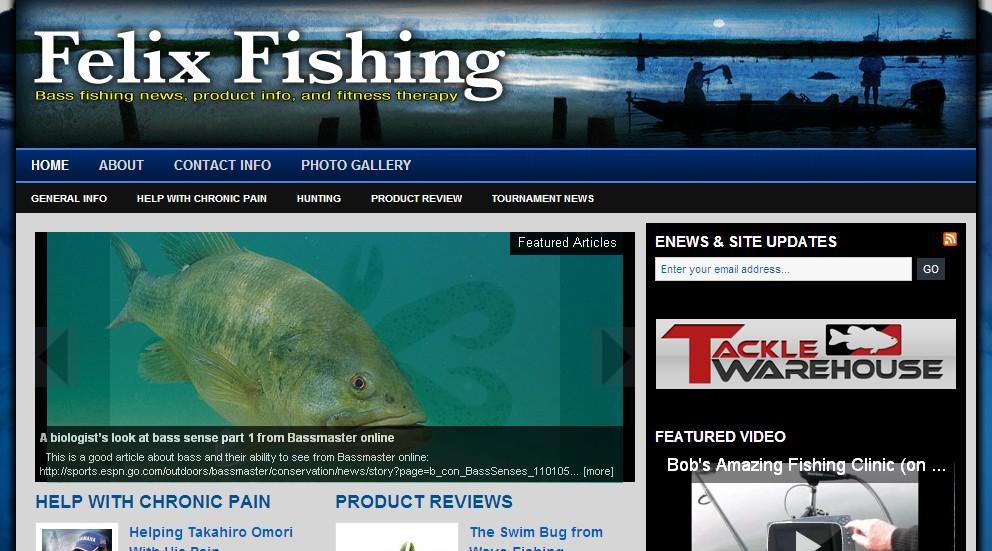 Bass pundit felix fishing more new bass websites for Bass fishing websites