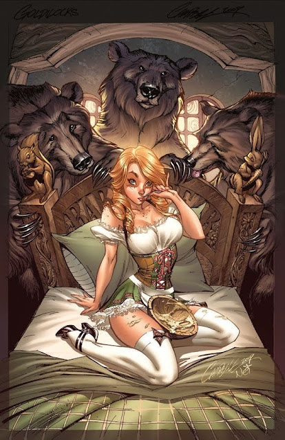 Goldilocks and Three Bears by J. Scott Campbell Art