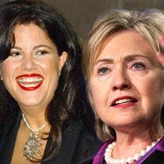 Hillary Clinton and Monica Lewinsky in White House