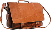 David King Leather 118 Porthole Briefcase