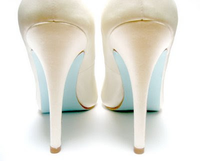 Blue Soled Wedding Shoes on Wildflowers  Wordless Wednesday   Tiffany Blue