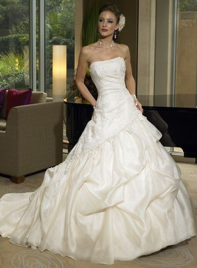 Beautiful Wedding Dress White Option 02