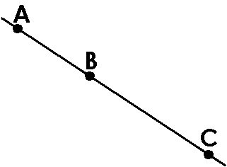 Answers to Quiz 2 Three Collinear Points