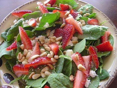Kim and Katie Cook: Strawberry and Feta Salad