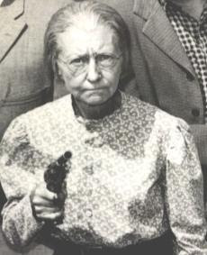 granny with gun