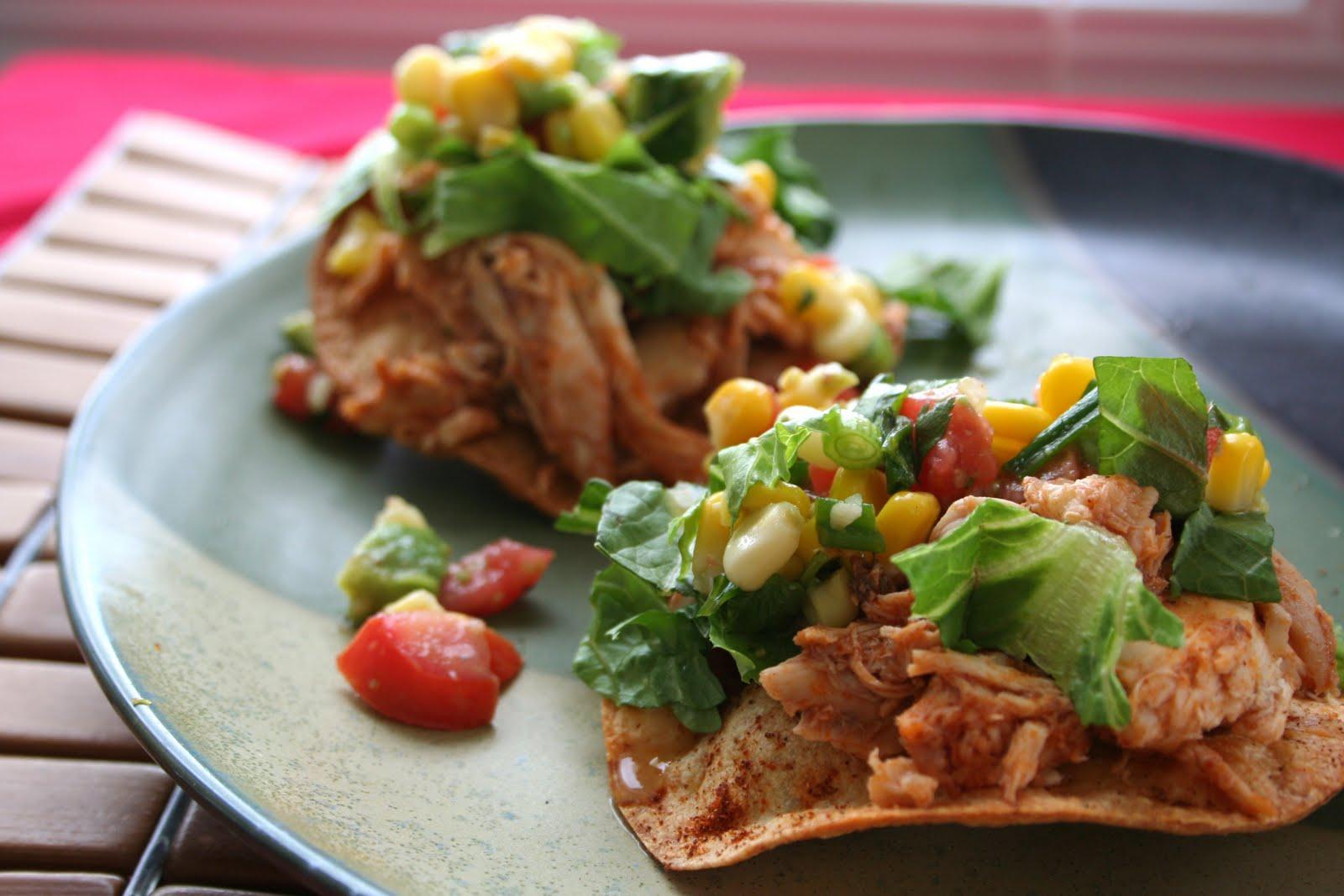 Meal Planning 101: BBQ Ranch Chicken Tostadas with Avocado Corn Salsa
