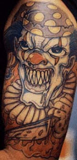 Killer Clown Tattoos
