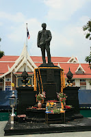 Statue of King Chulalongkorn in front of the province hall Nonthaburi