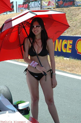 Umbrella Girl MotoGP 2017