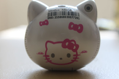 Hello Kitty mobile phone (back view)