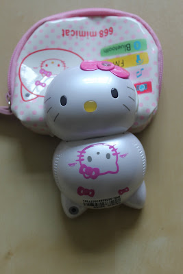 Hello Kitty mobile phone with pouch