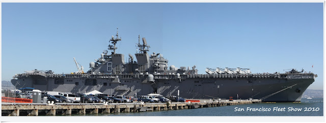 US Carrier docking in San Francisco