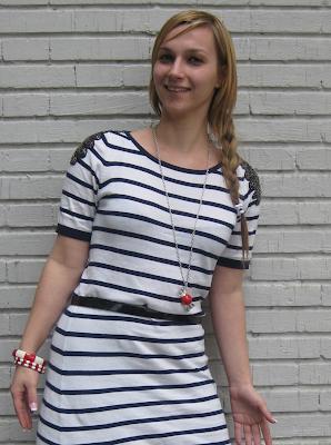navy dress sfera