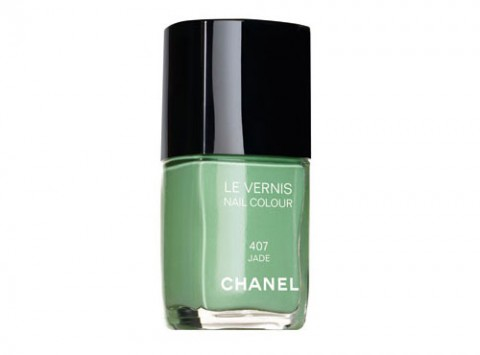 nail polish, jade, Chanel