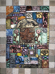Clay and Glass Tile Nature Mosaic