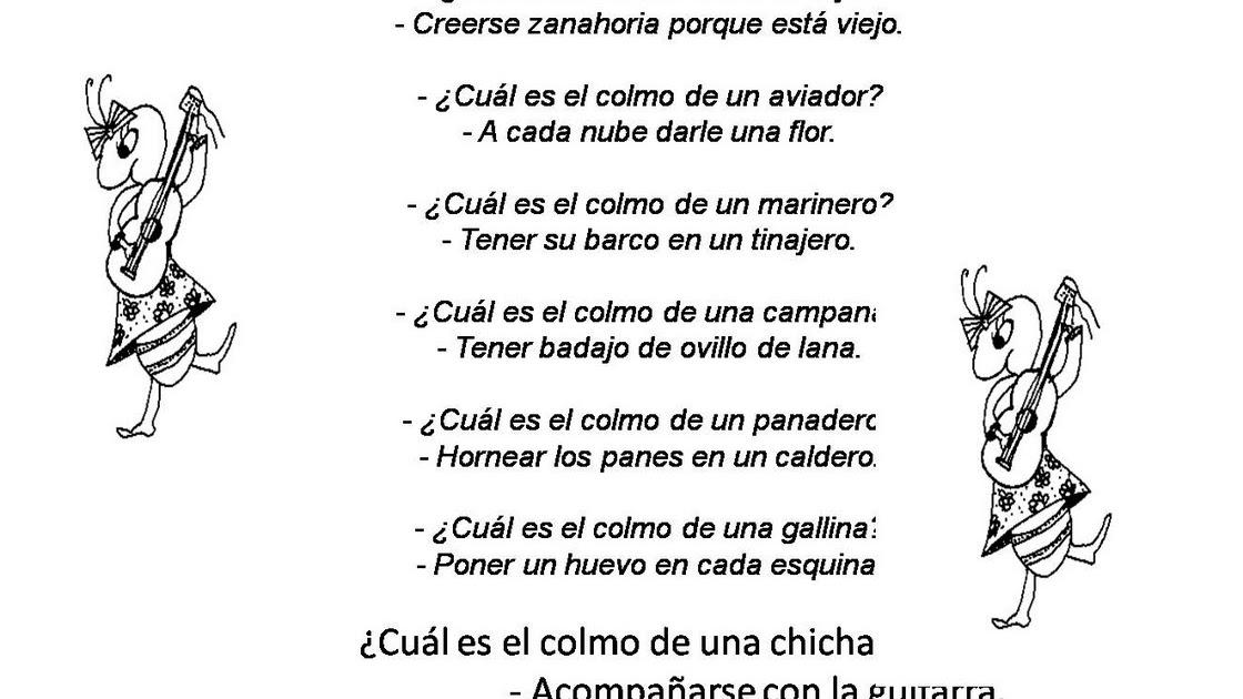 Vivero literario de los colmos rimados - Colmos infantiles ...