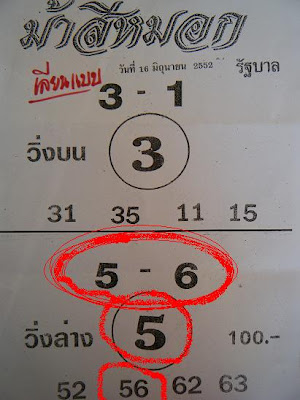 Best Paper For 16 June Thailand Lottery Draw