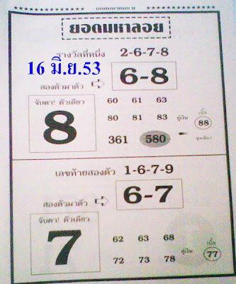 Thailand Lottery Tips http://ronnitips.blogspot.com/2010/06/best-thai-lottery-papers-for-16-june.html
