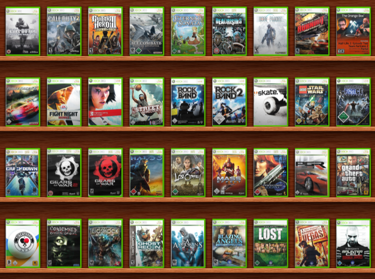 xbox games in 360: