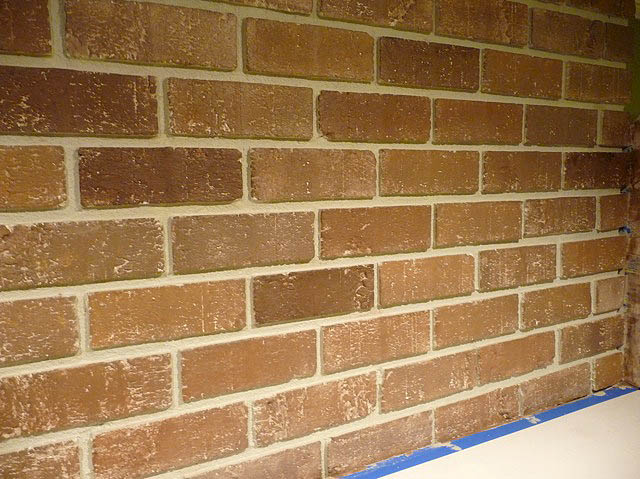 Painting brick fireplace from white to beautiful brownstone pretty handy girl - Painted brick exterior pictures set ...