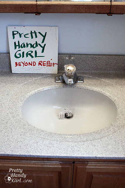 Repairing A Pop Up Sink Drain Pretty Handy Girl