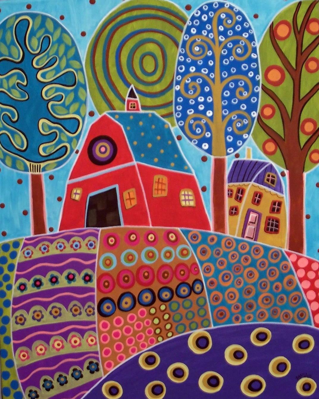 Karla gerard art 3 new paintings by karla g for Arts de la maison