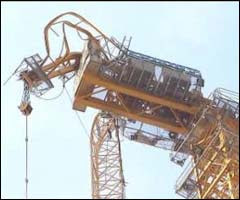 Singapore Crane Accident Picture on Tower Crane Accidents  April 2009