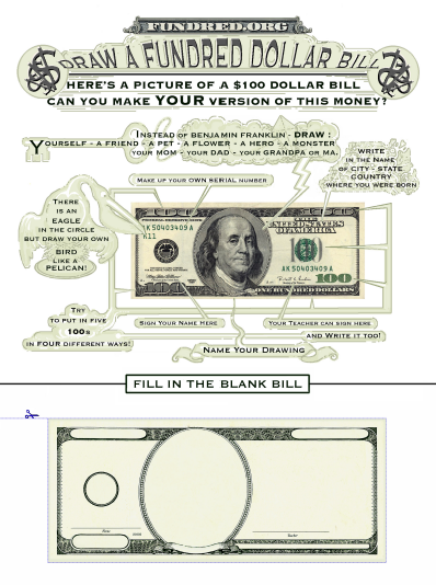100 dollar bill template. 5 dollar bill template.