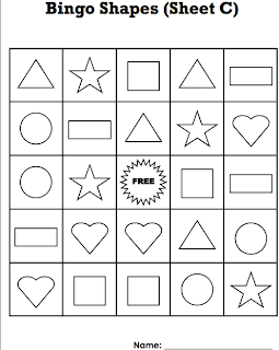 Fan image inside shape bingo printable