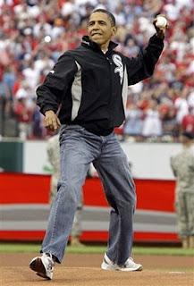 barack obama blue jeans