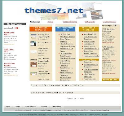 free ecomerce blogger template