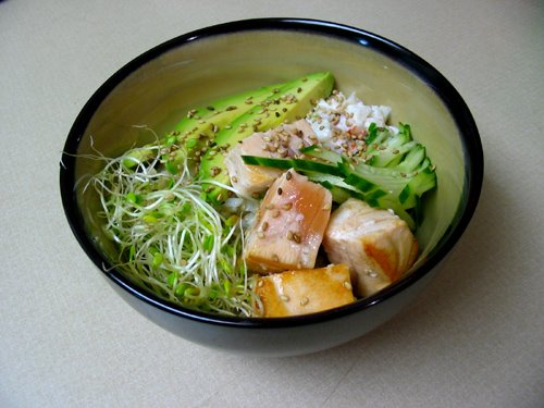 Sushi Bowl with Seared Salmon | Korean Cooking Recipes | Korean Food ...