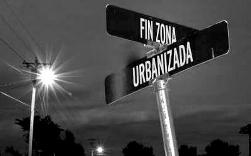 Fin zona urbanizada