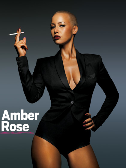 amber rose with hair pictures. girlfriend amber rose model