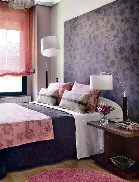 Arquitetura do im vel quartos de casal com detalhes de - Pinturas originales para dormitorios ...