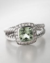 Petite Albion Ring Morganite