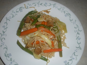 Veggie and Seitan Lo Mein