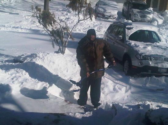 50 Cent Shoveling Snow