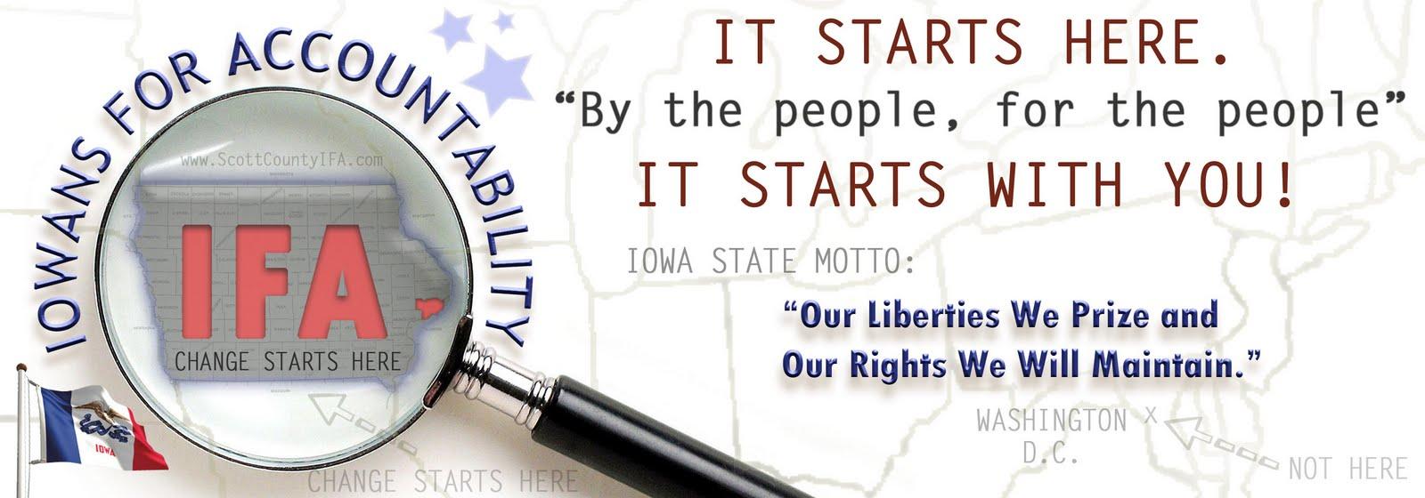 Iowans For Accountability | Scott County IFA