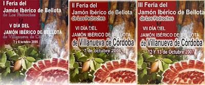 Cartreles de la I, II y III Feria del Jamón