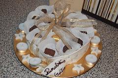 Caixa de bombons em bolo...