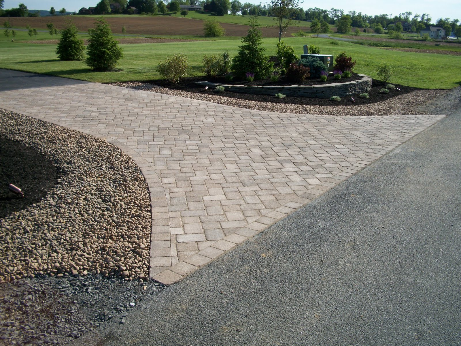 fire pit outdoor landscape on pinterest driveways driveway