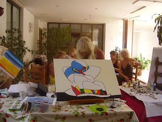 obras realizadas en el taller de pintura gratuito