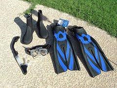 Aletas, Snorkel, antiparras y botas