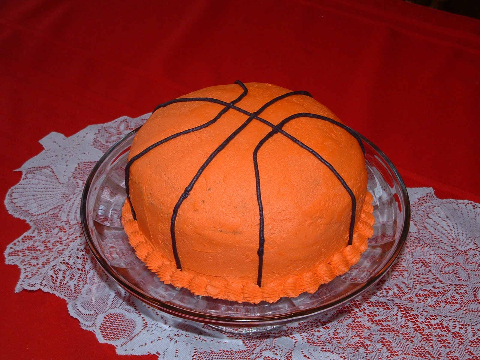 Easy Basketball Cake Decorating Ideas : Lulu s Home Cookin : Birthday Cakes