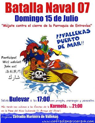 Cartel Fiestas de la Batalla Naval 2007
